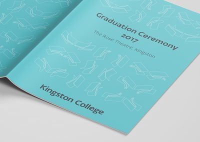 Kingston College Graduation ceremony book cover