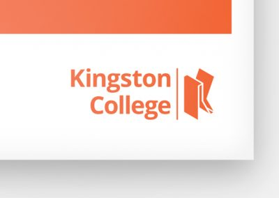 Kingston College event leaflets