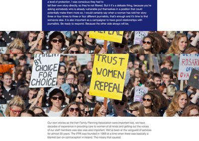Abortion and the referendum in Ireland webpage